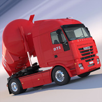 iveco stralis tipping silo 3d model