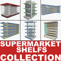 3d supermarket shelves 2