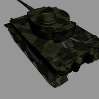 3d german wwii tank tracks model