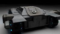 3d model tank transport