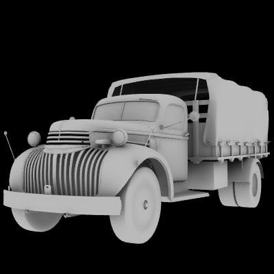vintage 2 truck vehicle 3d lwo