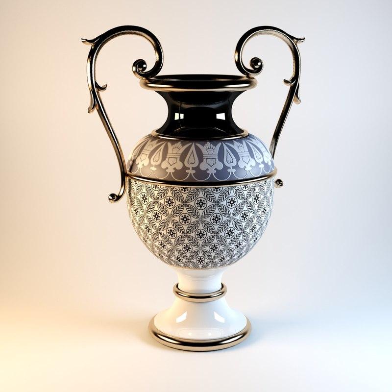 vase classical 3d model