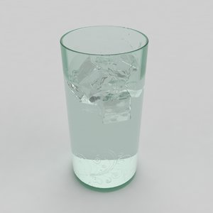 3d model glass water