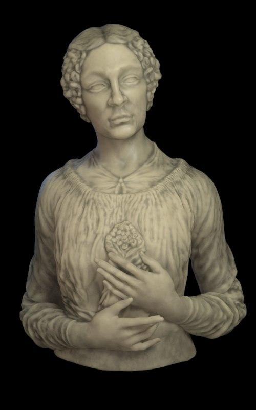 free obj model classic lady primroses marble