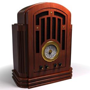 3d old fashioned radio