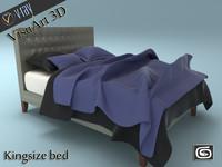 3d model of bed materials