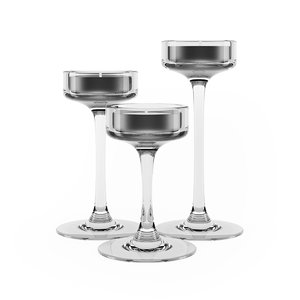 max glass candlestick candle