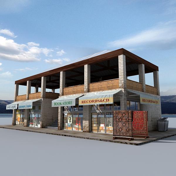 coast shop building 3d model