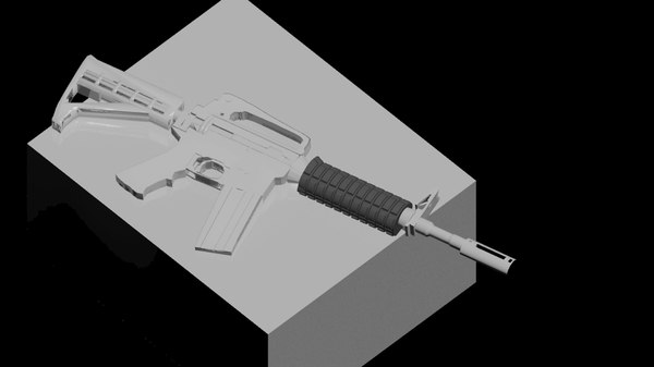 m4a1 assault rifle 3d max