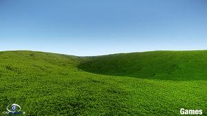 3d grass lawn model
