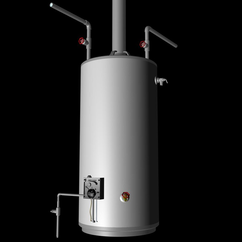 3d hot water heater model