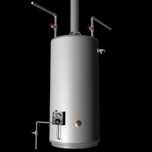 3d hot water heater model