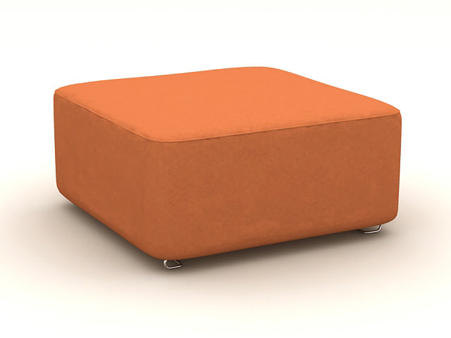 orange chair 3d model