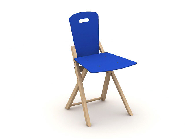 blue chair 3d 3ds