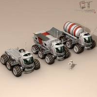 3d fictional lunar vehicle