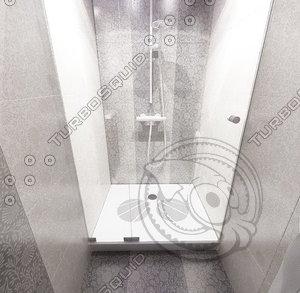 3ds max showerbasin pro 80x100cm
