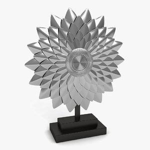3d silver sculpture model