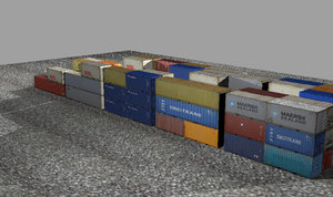 3d container stack