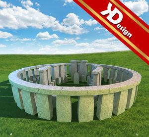 3ds max stonehenge stone henge