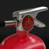 extinguisher safety building 3d model
