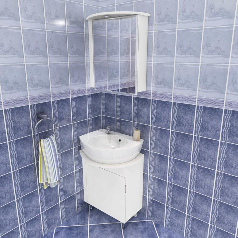 3d model vj bathroom set