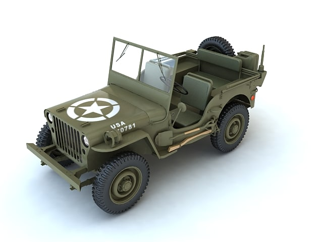 willys army jeep 3d model
