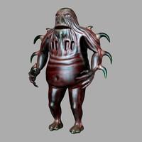 woren alien creature 3d 3ds