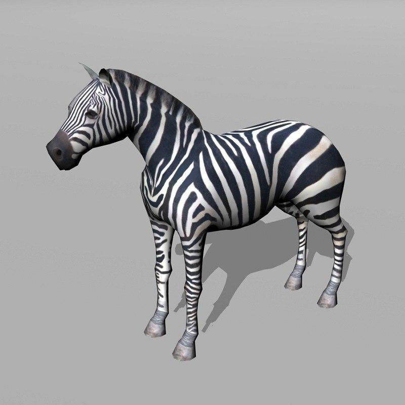 3d model zebra uv