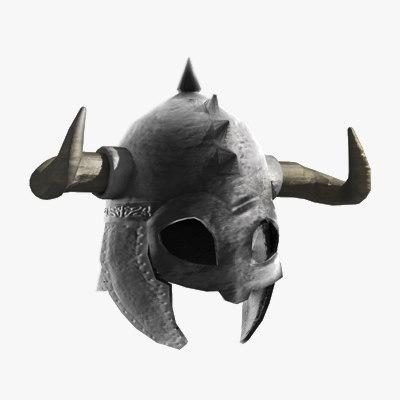 horned helmet fbx