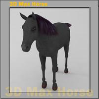 3d horse modelled