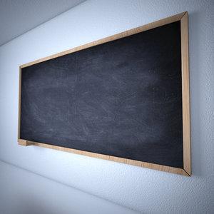 blackboard classical board 3d c4d