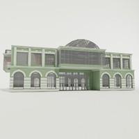 3d buildings exterior