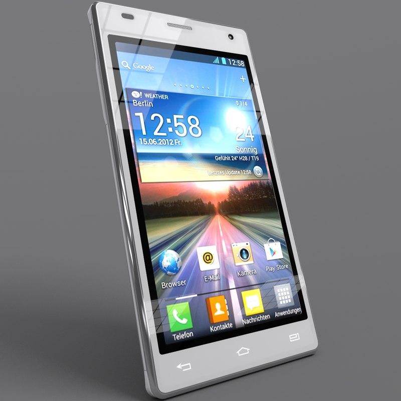 lg optimus 4x phone 3d model