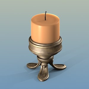 blend objects candle