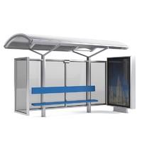 bus stop 3d 3ds