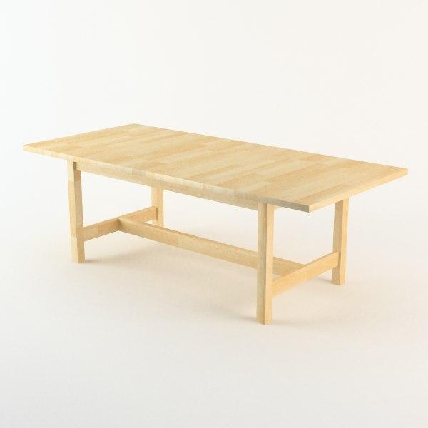 3d table ikea - Table ikea norden ...