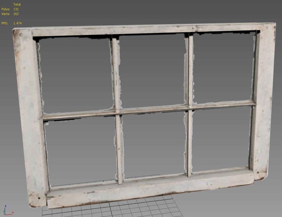 3d model of old window