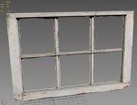 3d model of old window