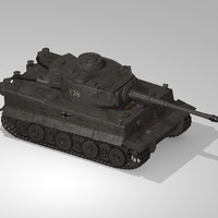 3d obj german wwii tank tracks