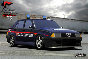 3d model alfa romeo 75 carabinieri