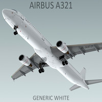 Airbus A321 Generic White