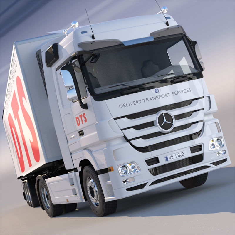 mercedes actros space cab 3d model