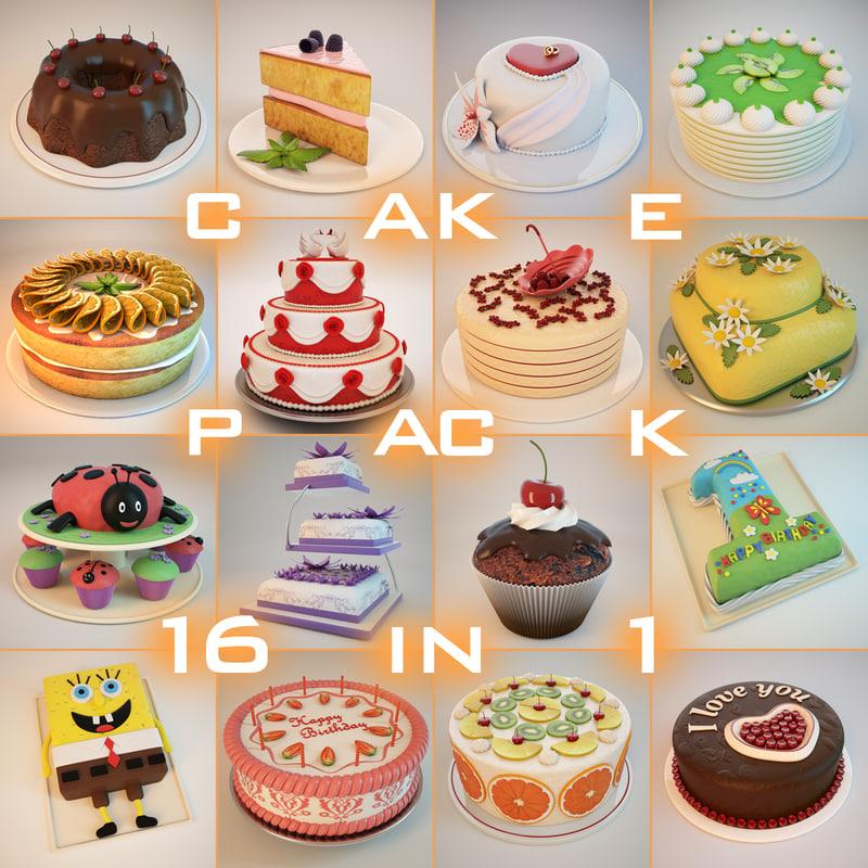 3d cakes model