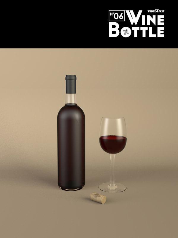 c4d bottle 06 wine
