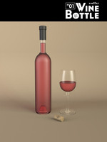 bottle 25 wine 3d model