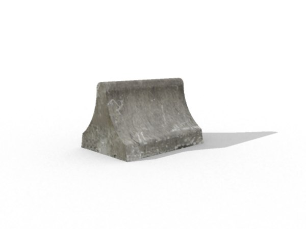 concrete barrier 3d x