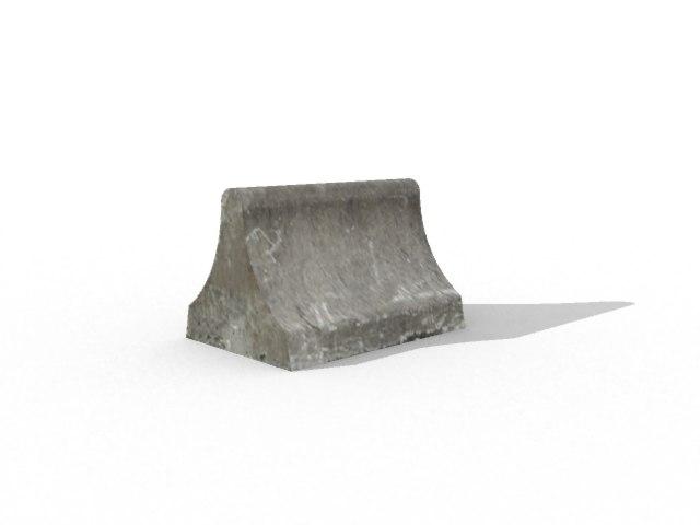 concrete barrier 3d x