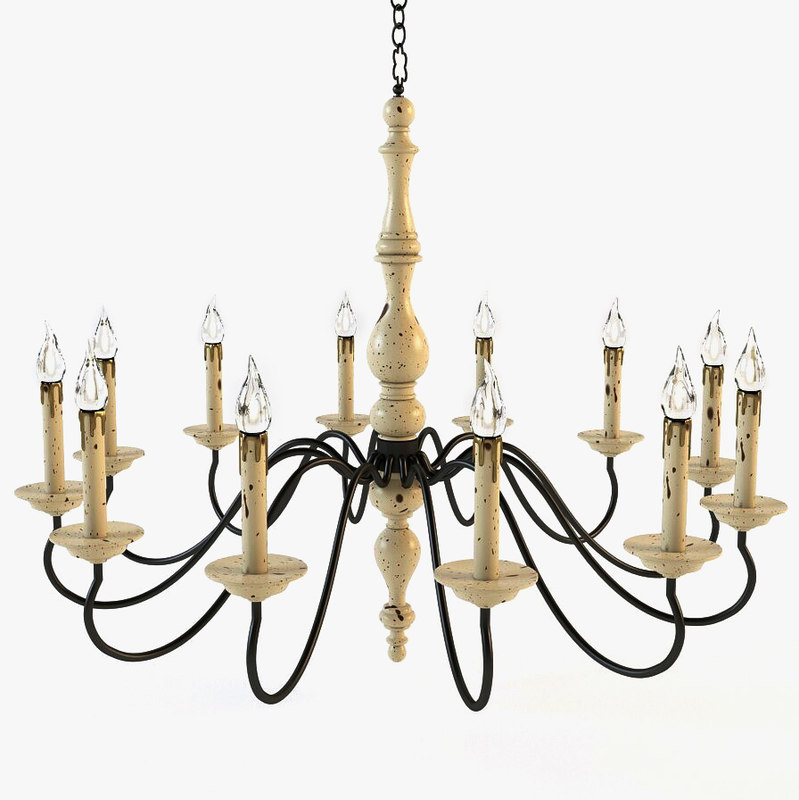 Currey And Company Coral Chandelier: 3d Currey Company