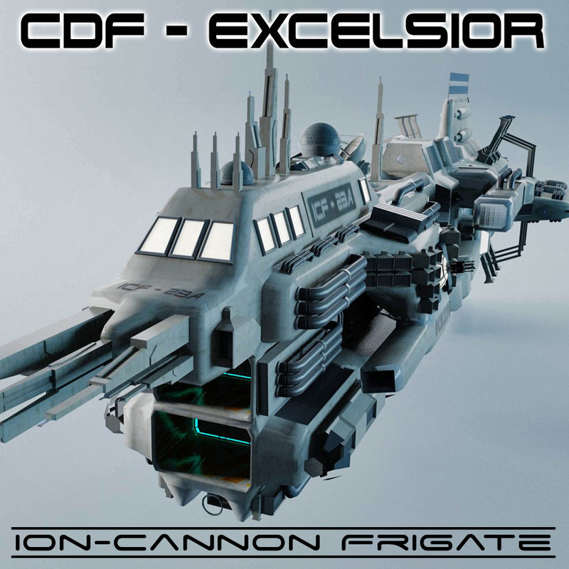 3d ion cannon frigates cdf model