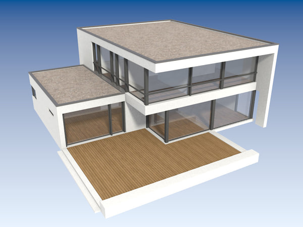 3d contemporary house l-cube